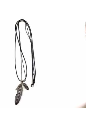 Erkekçe Moda Kly013 Kuş Tüyü Kolye