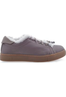Pegia Deri Kışlık Kadın Sneaker 157602