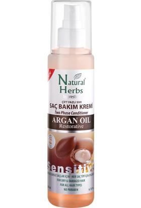 Natural Herbs Çift Fazlı Argan Yağlı Sıvı Saç Kremi 200 ML