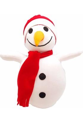 Kılıfkapakdünyası Kardan Adam 50 cm Boyunda Yeni Yıl Hediyesi Peluş Oyuncak