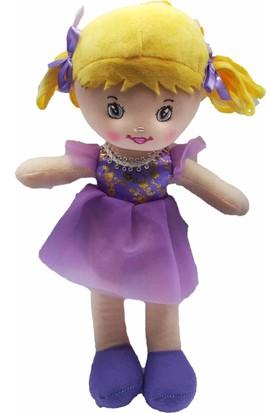 Kılıfkapakdünyası Oyuncak Bez Bebek 30 cm Evcilik Oyuncakları Kız Tütü Prenses Bebek Lila
