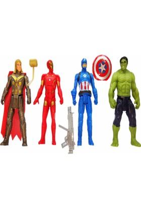 Kılıfkapakdünyası Yenilmezler Oyuncak 4'lü Thor Kaptan Amerika Ironman Hulk Ultron
