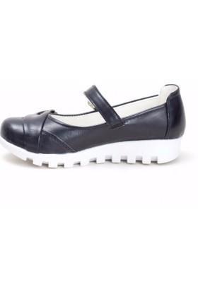 Erbilden Papi Siyah Cilt Kemerli Çocuk Babet Ayakkabı