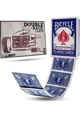 Bilardoavm Bicycle Double Back Blue İllüzyonist Oyun Kartı Destesi (Orjinal Bicycle Sihirbazlık Oyun Kağıdı)