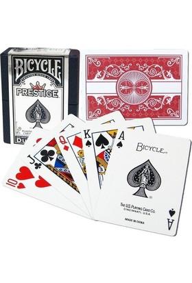 Bilardoavm Bicycle Dura Flex Prestige Plastik Poker İskambil Oyun Kağıdı (Bicycle Oyun Kartı Kırmızı)