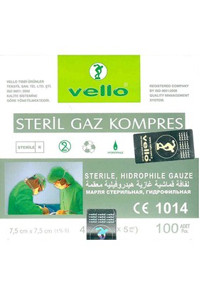 Vello Steril Gaz Kompres 100 Adet