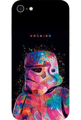 Deer Case Apple iPhone 8 Silikon Kılıf Baskılı UV HD Star Wars SW0045 Arka Kapak
