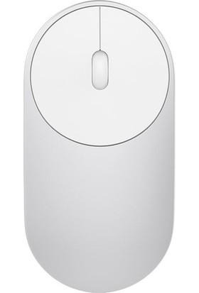 Xiaomi Mi Portatif Mouse / Fare 2 Bilgisayar Destekli Bluetooth ve Kablosuz Alıcılı Gümüş - Global Versiyon