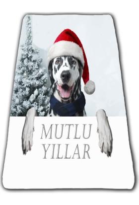 Yorka Design Şapkalı Köpek 1 - 3D Dijital Baskılı Battaniye