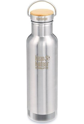 Klean Kanteen Insulated Reflect 20 Oz Bamboo Brushed Staninless
