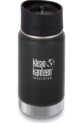 Klean Kanteen Insulated Wide 12 Oz Cafe 2.0 Shale Black