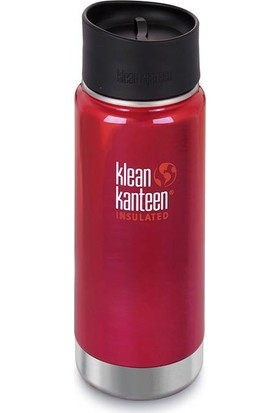 Klean Kanteen Insulated Wide 16 Oz Cafe 2.0 Shale Black