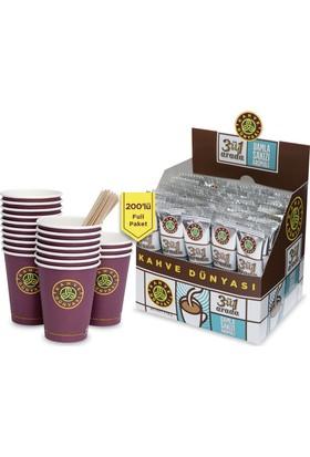 Kahve Dünyası 3'ü 1 Arada 200'lü Full Paket Damla Sakızlı