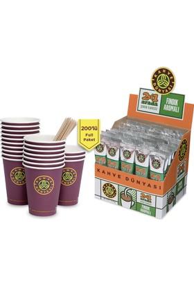 Kahve Dünyası 2'si 1 Arada 200'lü Full Paket Fındıklı