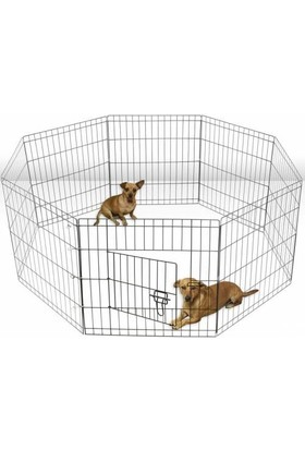 Can Kedi ve Köpekler İçin Panel Çit 60 x 60 cm - 6 Parça