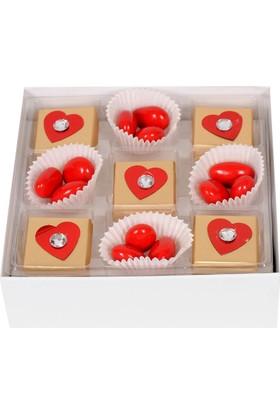 Chocchic Taşlı Kalpler Çikolata