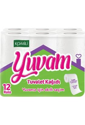 Komili Yuvam Çift Katlı Tuvalet Kağıdı 12 Rulo