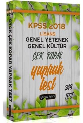 Beyaz Kalem 2018 Kpss Genel Yetenek Genel Kültür Çek Kopar Yaprak Test