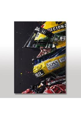 Tablomega Ahşap Tablo Ayrton Senna 35x50 Cm