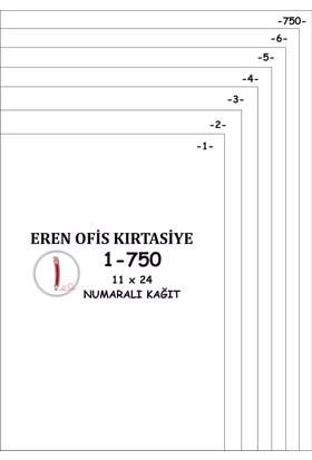 Eren A4 Numaralı Kağıt 1-750 / 80 Gr