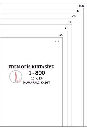 Eren A4 Numaralı Kağıt 1-800 / 80 Gr