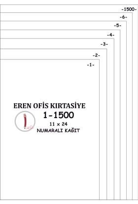 Eren A4 Numaralı Kağıt 1-1500 / 80 Gr