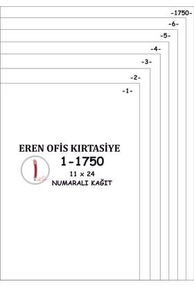 Eren A4 Numaralı Kağıt 1-1750 / 80 Gr