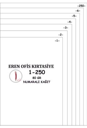 Eren A4 Numaralı Kağıt 1-300 / 80 Gr