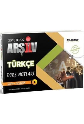 Filozof 2018 Kpss Arşiv Türkçe Ders Notları Video Destekli