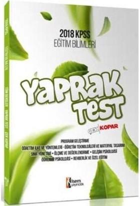 İsem 2018 Kpss Eğitim Bilimleri Çek Kopar Yaprak Test