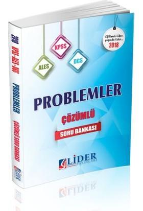 Lider 2018 Kpss Ales Dgs Problemler Çözümlü Soru Bankası