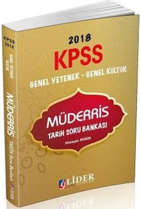 Lider Kpss Genel Yetenek Genel Kültür Müderris Tarih Soru Bankası