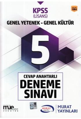 Murat 2018 Kpss Genel Yetenek Genel Kültür 5 Cevap Anahtarlı Deneme Sınavı