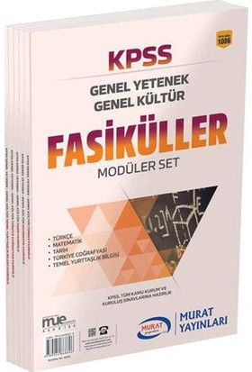Murat 2018 Kpss Genel Yetenek Genel Kültür Fasiküller Modüler Set