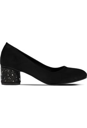 Marjin Madin Topuklu Ayakkabı Siyah Süet