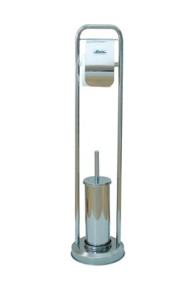 Ayaklı Wc Set (Tuvalet Fırçası Ve Kağıtlık)