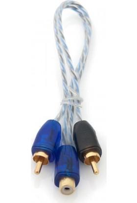 Pilippo Pı-2Fm Y Kablo 2 Erkek 1 Dişi Rca Kablo