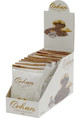 Orhan Türk Kahvesi 100Gr Aluminyum Poşet - 12Li Paket