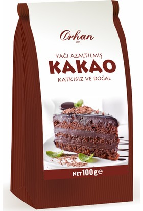 Orhan Yağı Azaltılmış Kakao 100Gr Kraft Poşet