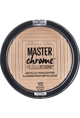Maybelline New York Master Chrome Metalik Aydınlatıcı 100 Molten Gold