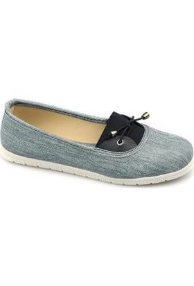 Ccway M02 Kot Tek Lastikli Günlük Bayan Babet Ayakkabı
