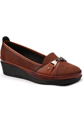 Badis 351 Kahverengi Kadın Babet Ayakkabı