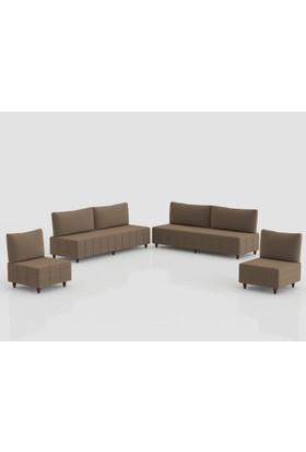 Comfort Delüx Maxi Koltuk Takımı Kahverengi