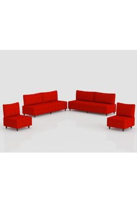 Comfort Delüx Maxi Koltuk Takımı Kahverengi Kırmızı