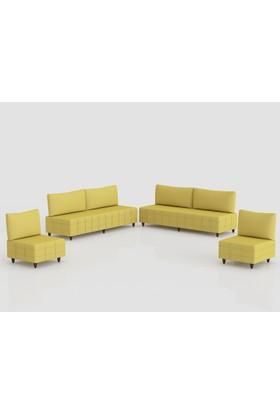 Comfort Delüx Maxi Koltuk Takımı Kahverengi Sarı