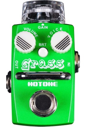 Hotone Grass Sod-1 Single Footswitch Analog Overdrive Pedal -