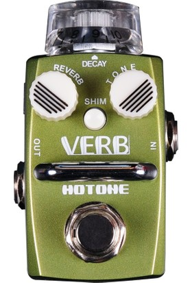 Hotone Verb Srv-1 Single Footswitch Digital Reverb Pedal (Room/Hall + Shim) -