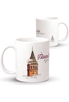 İstanbul Galata Kulesi Özel Tasarım Kupa