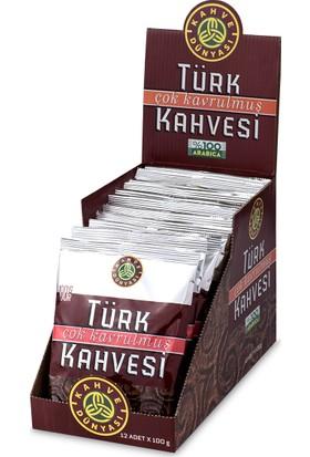 Kahve Dünyası 12li Eko Paket Çok Kavrulmuş Türk Kahvesi 100gr