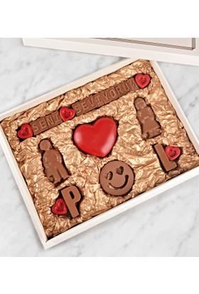 Tatlistan Kişiye Özel Seni Seviyorum Çikolatası